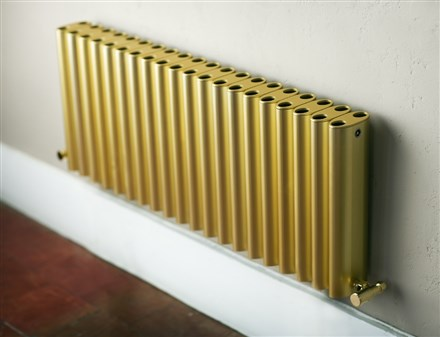 Eskimo Ron and Leggy Ron Gold Aluminium Radiator 200mm High