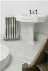Eskimo Ron and Leggy Ron Polished Aluminium Radiator 600mm High