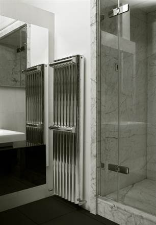 Eskimo Ron Polished Aluminium Radiator 1800mm High