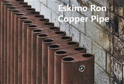 Eskimo Ron and Leggy Ron Shipyard, Copper Pipe and Antique Finish Aluminium Radiator 1500mm High