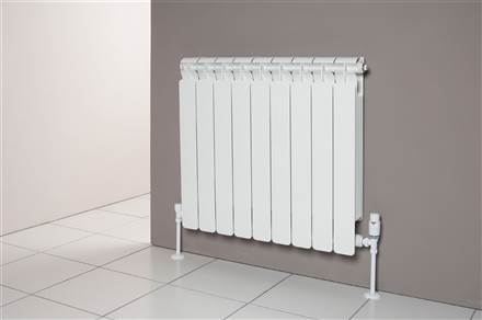 Faral Alba 95 Horizontal Aluminium Radiator 880mm High
