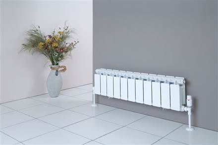 Faral Sill Line Open Top Horizontal Aluminium Radiator 245mm High