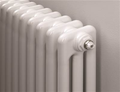 Warmrooms Horizontal Column Radiator - White