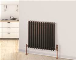Warmrooms Horizontal Column Radiator - Anthracite