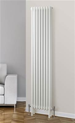 Warmrooms Vertical Column Radiator - White