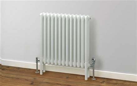 Rads 2 Rails Fitzrovia White Horizontal Column Radiator