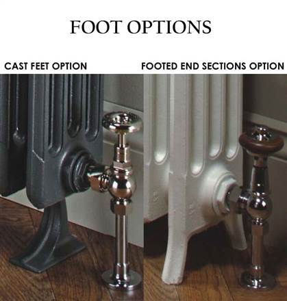 The Radiator Company Telford 5 Column Lacquered Cast Iron Radiator
