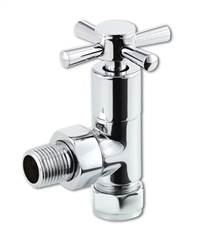 Futura chrome towel rail radiator valves