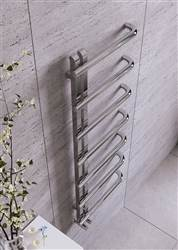 Apollo Garda Curve Polished Stainless Steel Heated Towel Rail