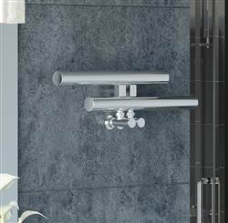 Apollo Garda Hi Level Polished Stainless Steel Heated Towel Rail