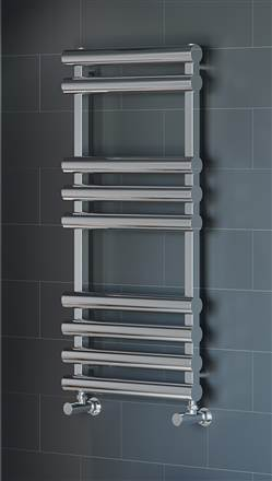 Apollo Garda Plus Polished Stainless Steel Heated Towel Rail