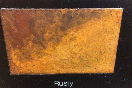 Eskimo Outline Rusty Electric Flat Panel Radiator