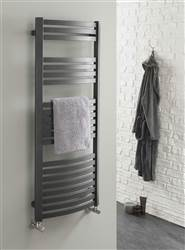 The Radiator Company Griffin Curved White Heated Towel Rail