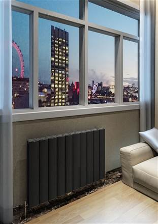 Warmrooms Onda Horizontal Aluminium Radiator