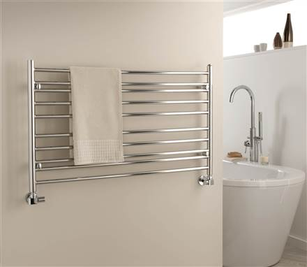 The Radiator Company Iris Stainless Steel Heated Towel Rail
