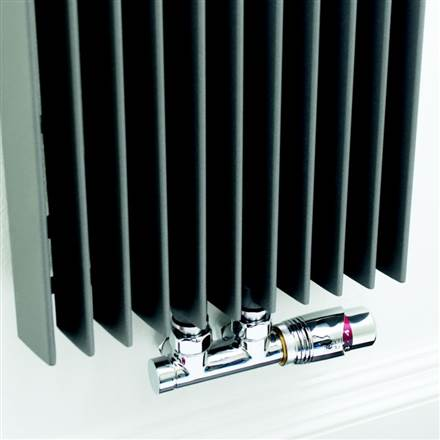 Twin valve set for Designer Radiators