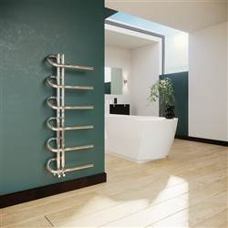 DQ Double Quick Jango Stainless Steel Heated Towel Rail