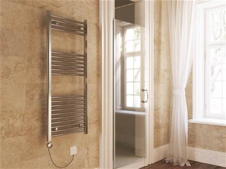 Terma Leo Chrome Electric Towel Rail