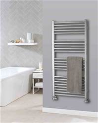 The Radiator Company Lupin Straight White Heated Towel Rail