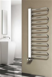 Reina Larino Designer Chrome Heated Towel Rail
