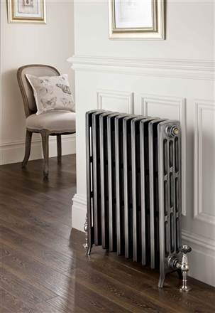 The Radiator Company Ledbury 4 Column Mini Cast Iron Radiator Polished