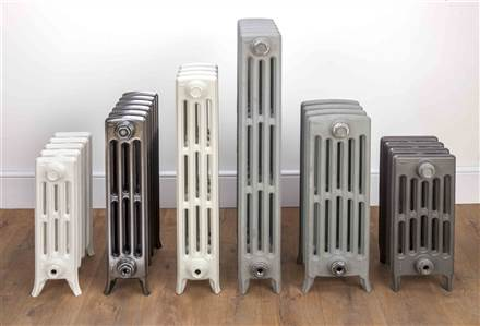 The Radiator Company Mini Ledbury 4 Column Cast Iron Radiators Polished