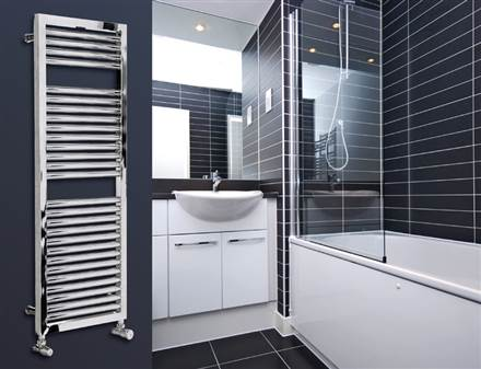 Myson Lindi chrome heated towel rail