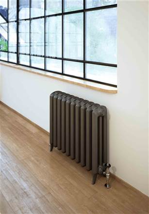 The Radiator Company Linton 3 Column Cast Iron Radiator - Galvanised Antique Copper