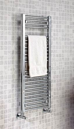 The Radiator Company Lupin Straight Chrome Heated Towel Rail