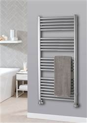 The Radiator Company Lupin Electric Straight Chrome Heated Towel Rail