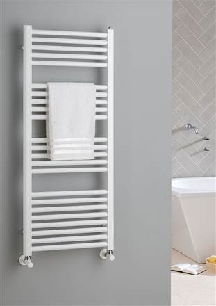 The Radiator Company Lupin Electric Straight White Heated Towel Rail
