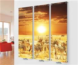 Eucotherm Mars Vitro Glass Picture Triple Vertical Radiator