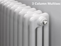 MHS Multisec 3 column Radiator - 600mm Height - White