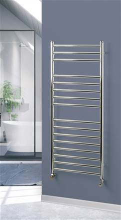 Rads 2 Rails Belsize Straight and Curved Stainless Steel Heated Towel Rail