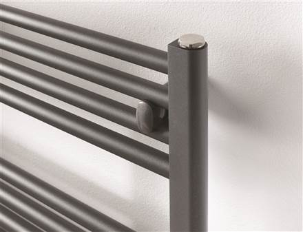 Rads 2 Rails Brompton Graphite Grey Straight Heated Towel Rail