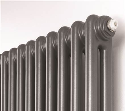 Rads 2 Rails Fitzrovia Anthracite Vertical Column Radiator