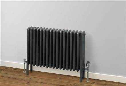 MHS Multisec 4 column Radiator - 600mm Height - Anthracite