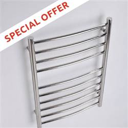 MHS Alara Curved Stainless Steel Heated Towel Rail