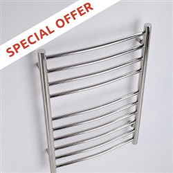 MHS Alara Curved Electric Stainless Steel Towel Rails