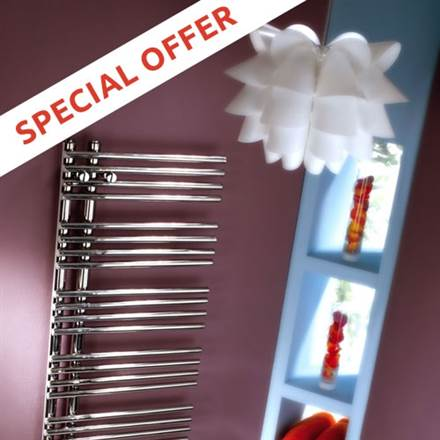 MHS Comb Stainless Steel Heated Towel Rail