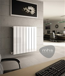 MHS Decoral 97 Horizontal Aluminium Radiator 677mm High