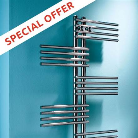 MHS Fingers Stainless Steel Electric Towel Rail