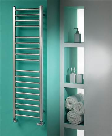 MHS Java Straight Stainless Steel Heated Towel Rail