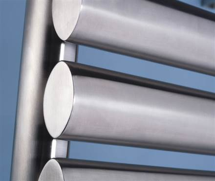 MHS Oval Electric Stainless Steel Heated Towel Rail