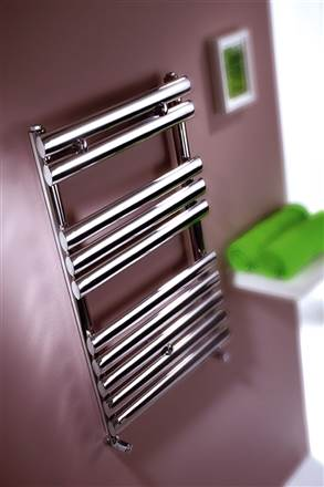 MHS Oval Stainless Steel Heated Towel Rail