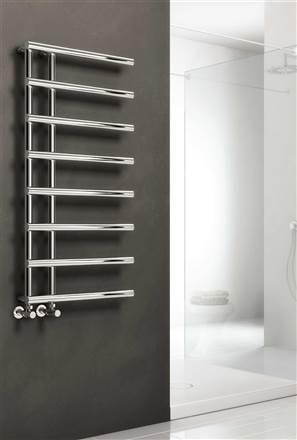 Reina Matera Designer Chrome Heated Towel Rail
