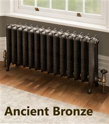 The Radiator Company Mini Trieste 2 Column Cast Iron Radiator Burnished