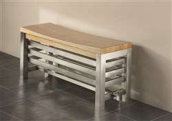 Aestus Noa Polished Stainless Steel Bench Radiator