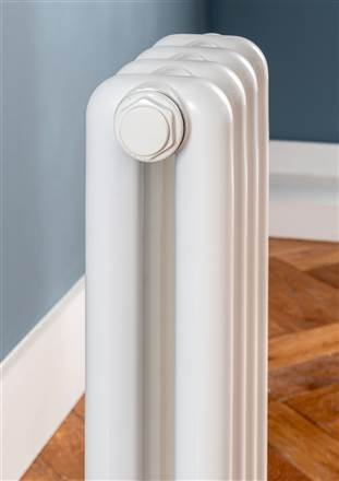 The Radiator Company Odolo  2 Column Horizontal Aluminium Radiator - 649mm Height