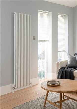 The Radiator Company Odolo  2 Column Vertical Aluminium Radiator - 1849mm Height